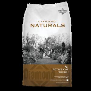 Diamond Natural Active Chicken Meal & Rice Formula Dry Cat Food Bag