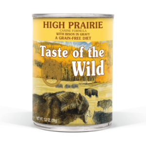Taste of the Wild High Prairie Canine Formula with Bison in Gravy Dog Food Can
