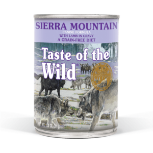 Taste of the Wild Sierra Mountain Canine Formula with Lamb in Gravy, 13.2-oz cans