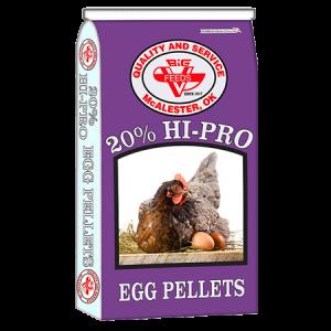 Big V 20% Hi-Pro Egg Pellets Bag