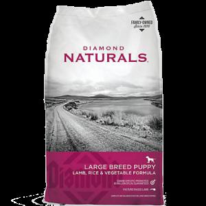 Diamond Naturals Large Breed Puppy Lamb & Rice Feed Bag