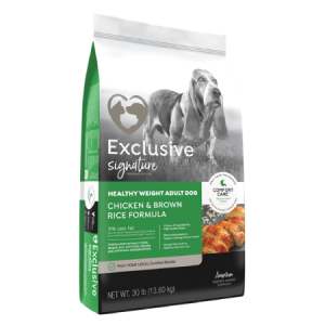 Exclusive Signature Healthy Weight Adult Dog Chicken & Brown Rice Formula Bag