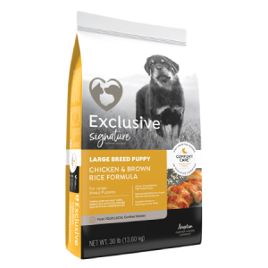 Exclusive Large Breed Puppy Chicken and Brown Rice feed bag