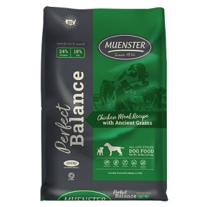 Muenster Perfect Balance Chicken Meal with Ancient Grains Dry Dog Food Bag
