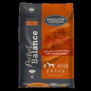 Muenster Perfect Balance Chicken Meal & Pork Meal Dog Food Bag