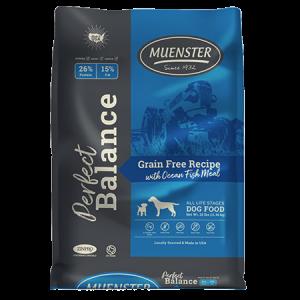 Muenster Perfect Balane Grain Free Recipe With Ocean Fish Meal Dry Dog Food Bag