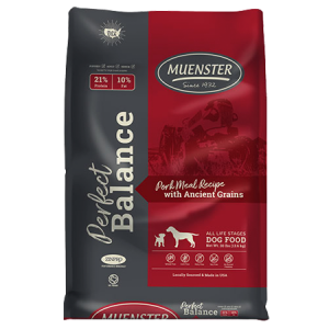 Muenster Perfect Balance Pork Meal Recipe with Ancient Grains Dry Dog Food Bag
