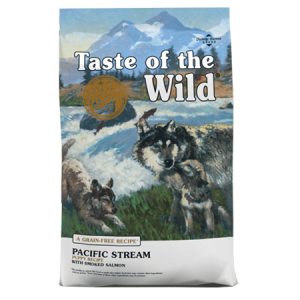 Taste of the Wild Pacific Stream Puppy Recipe with Smoked Salmon feed bag