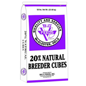 Big V 20% Natural Breeder Cubes